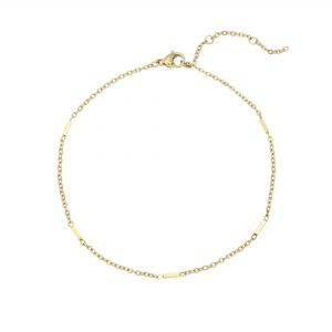 Anklet tiny bars gold
