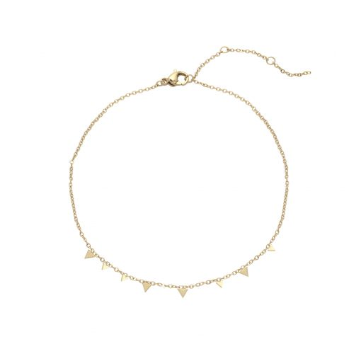 Anklet triangles gold