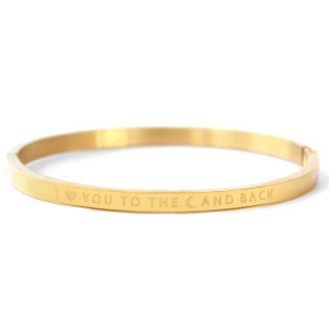 Bangle I love you to the moon and back gold