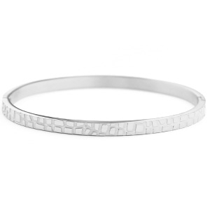 Bangle crocodile silver