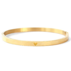 Bangle heart gold