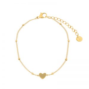 Bracelet closed heart gold