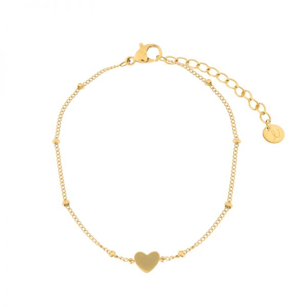 Bracelet closed heart gold