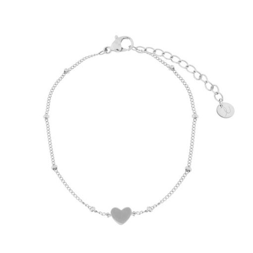 Bracelet closed heart silver