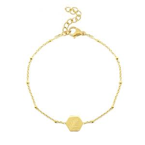 Bracelet leaf gold
