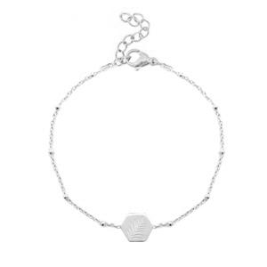 Bracelet leaf silver