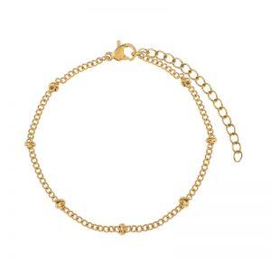 Bracelet tiny beads gold