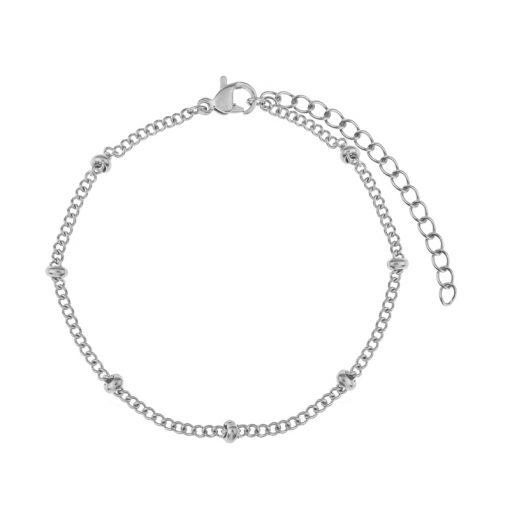 Bracelet tiny beads silver
