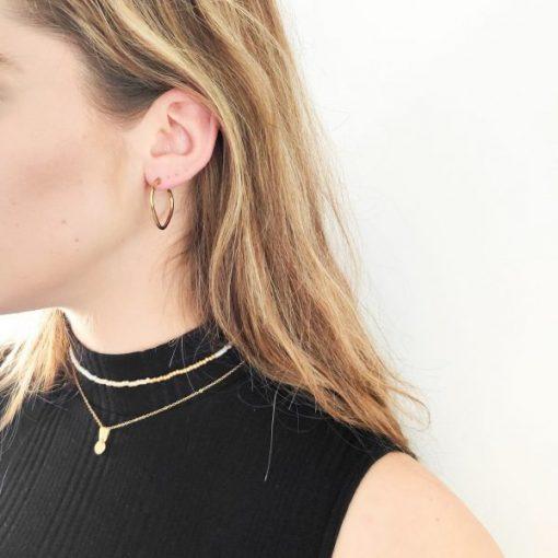 Earrings hoops heart