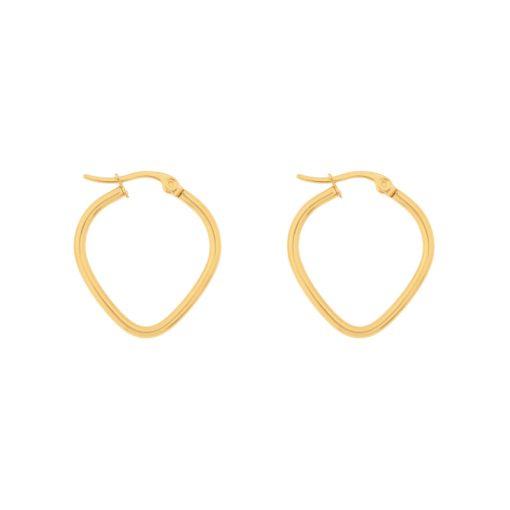 Earrings hoops heart gold