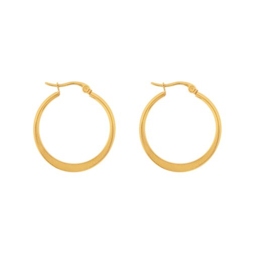 Earrings hoops round statement large gold