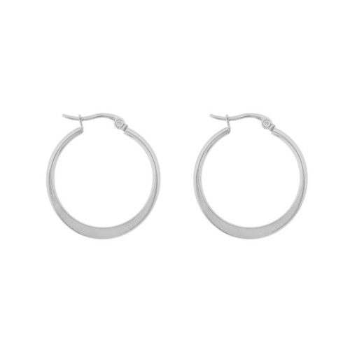Earrings hoops round statement large silver