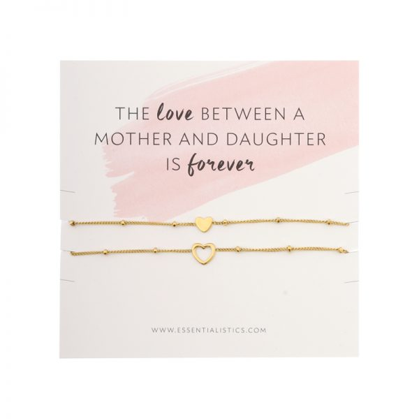 Heart bracelets to share example mother daughter
