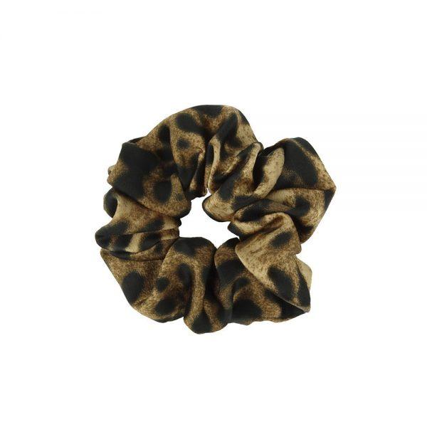 Scrunchie leopard brown