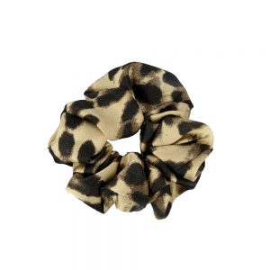 Scrunchie leopard light brown