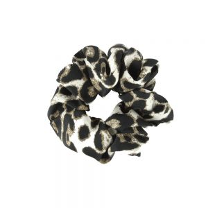 Scrunchie leopard white1