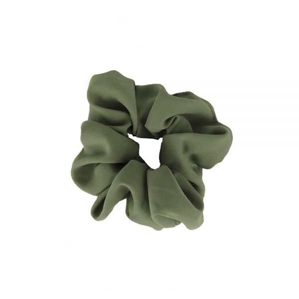 Scrunchie plain green