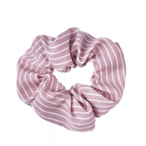 Scrunchie stripes pink