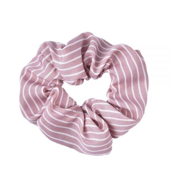 Scrunchie stripes pink