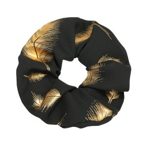 Scrunchie feather black