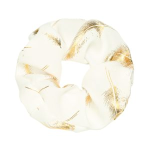Scrunchie feather white
