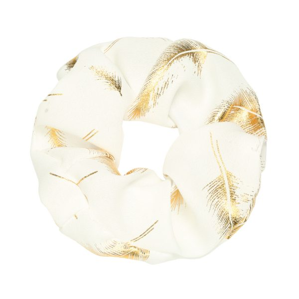Scrunchie feather white