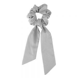 Scrunchie ribbon grey