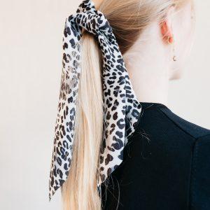 Scrunchie ribbon leopard