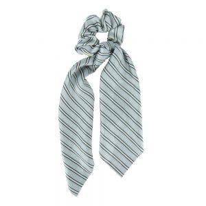 Scrunchie ribbon stripes blue