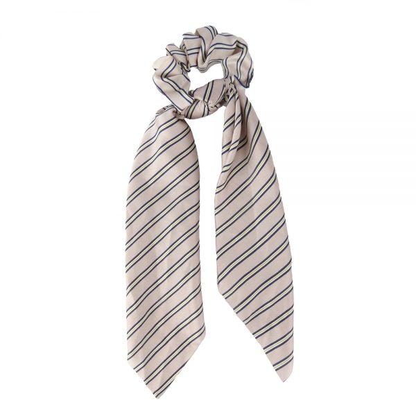 Scrunchie ribbon stripes pink
