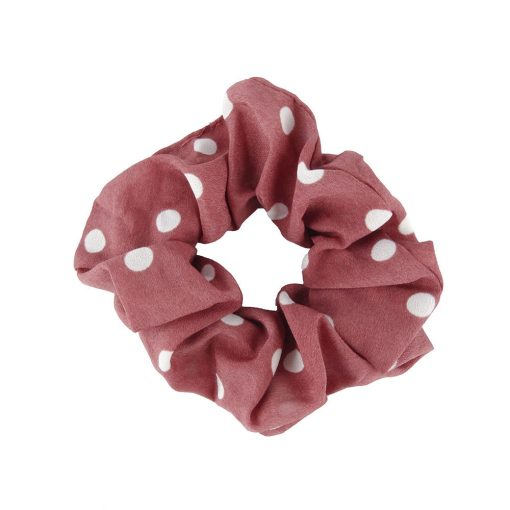 Scrunchie dots red