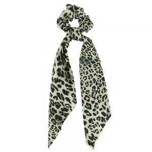 Scrunchie ribbon leopard brown