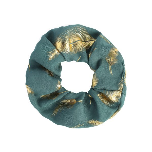 Scrunchie feather blue
