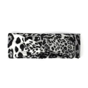 Hairband leopard grey