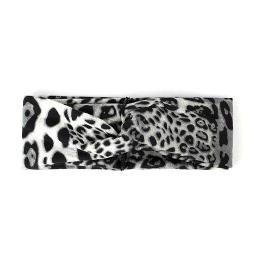 Hairband leopard grey