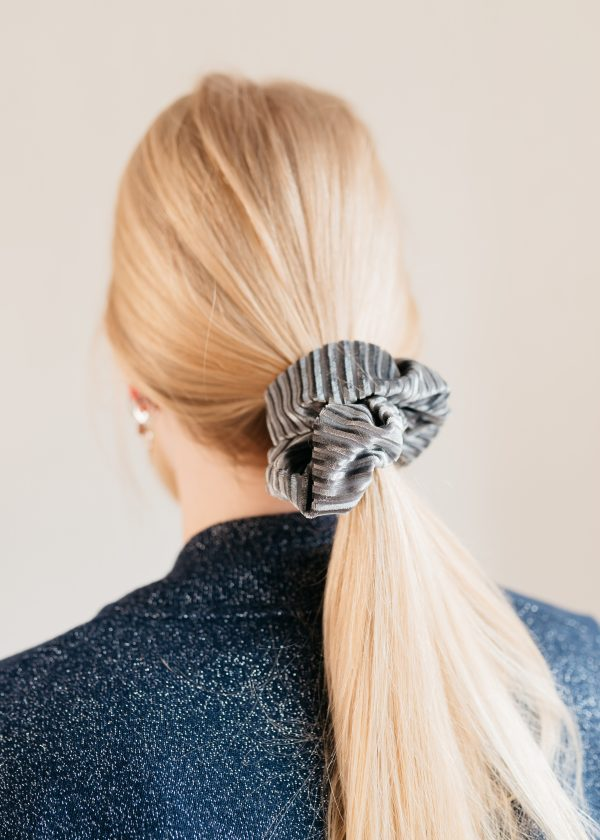 Scrunchie velvet crushed