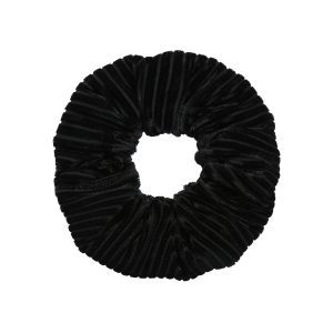 Scrunchie velvet crushed black
