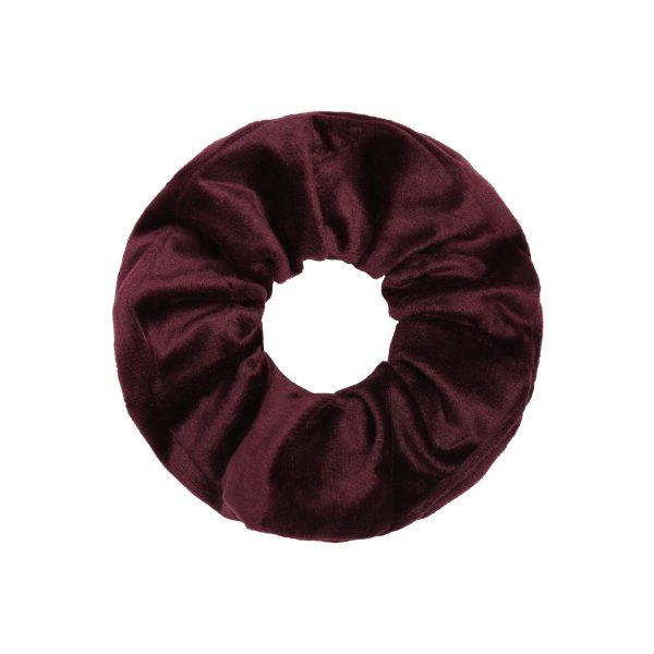 Scrunchie winter dark red