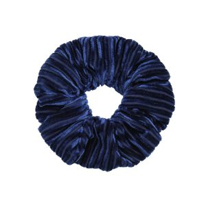 Scruncie velvet crushed blue