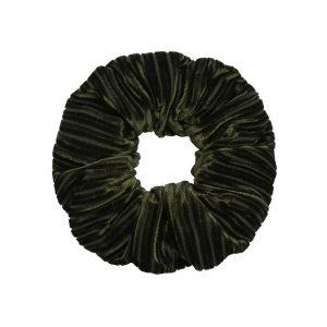 Scruncie velvet crushed green