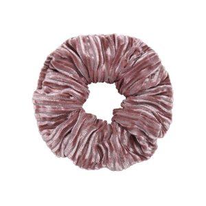 Scruncie velvet crushed pink