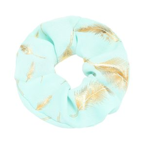 Scrunchie feather light blue