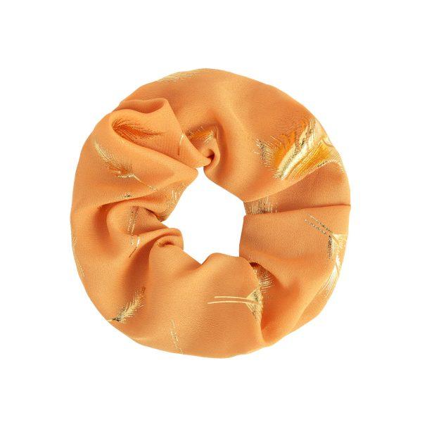 Scrunchie feather orange