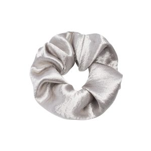 Scrunchie satin silver