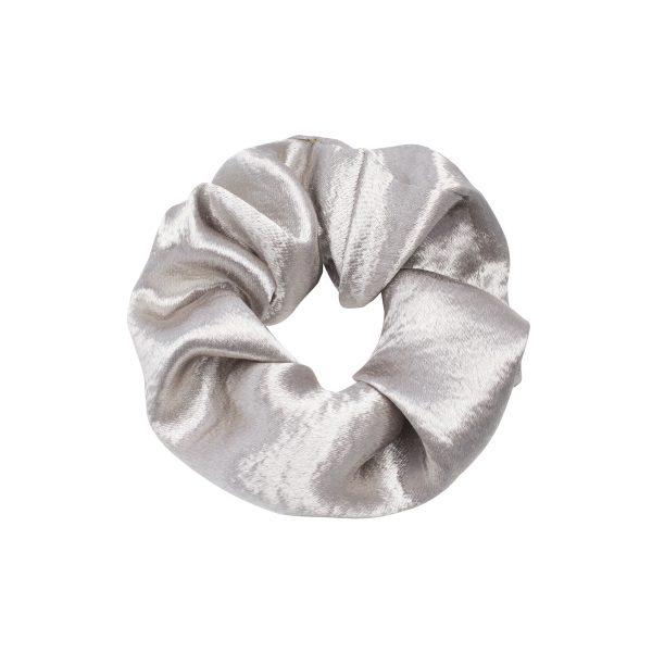 Scrunchie satin silver