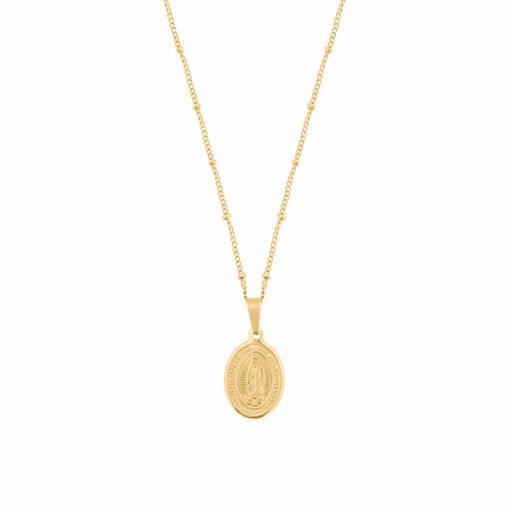 Necklace Mother of Guadalupe gold