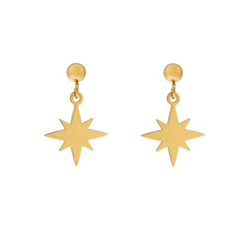 Stud earrings Northstar gold