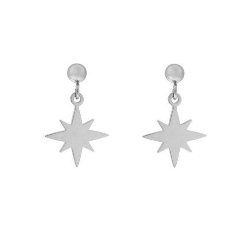 Stud earrings Northstar silver