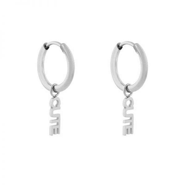 Earrings minimalistic cute silver