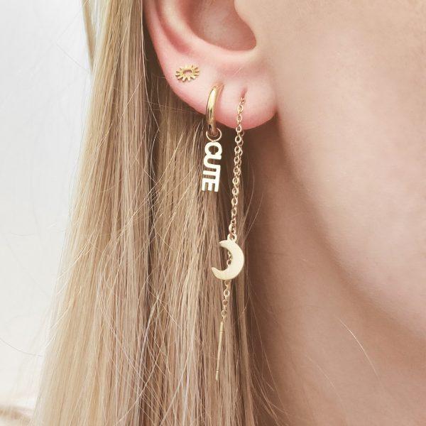 Earrings minimalistic cute